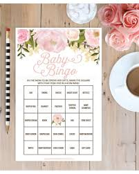 Here's a Great Price on Pink Floral Baby Shower Bingo 60 Unique Game ...