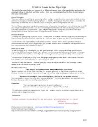 Resume Examples Templates 5 Lines Cover Letter Openings Sample