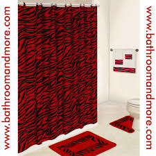 black and red bathroom accessories. Lush Red Zebra Print Bathroom Set Comes Complete With Fabric For Filname And Black Sets Designs Accessories E