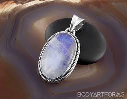 blue rainbow moonstone pendant