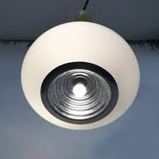 black white ceiling lamp by achille