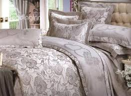 elegant duvet covers elegant jacquard grey fl drill 4 piece duvet cover bedding sets elegant double