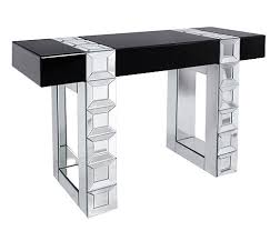 mirror hall table. Mirrored 2 Tone Black And Plain Mirror Hall Table