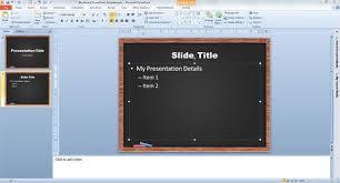 Chalkboard Powerpoint Background Blackboard Powerpoint Template
