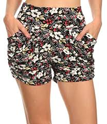 Womens Patterned Shorts Delectable Simplicity Women's Harem Style MultiPatterned Stretchy Elastic