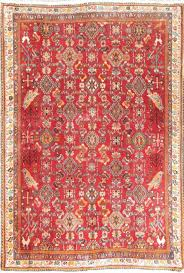 semi antique all over geometric kashkoli oriental handmade red wool rug 3x5