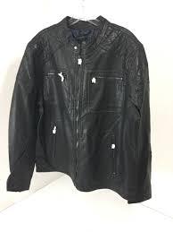 rock republic men s faux leather jacket black xl nwt 200
