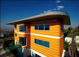 exterior contemporary house colors. interior \u0026 architecture designs: contemporary house exotic orange beautiful paint colors, a fresh and relaxing look, light clean exterior colors