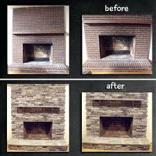stone veneer over brick fireplace fireplace remodel stone veneer over brick stone veneer over painted brick