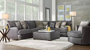 Yellow and grey furniture Greyish Blue Skyline Drive Living Room Set Skyline Drive Living Room Set With Gray Sectional Chair And Ottoman Idealdrivewayscom Gray White Gold Living Room Furniture Decorating Ideas