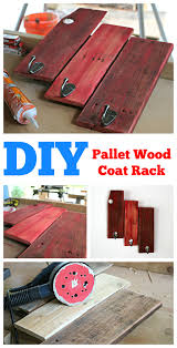 Diy Wood Coat Rack Simple DIY Pallet Wood Coat Rack 88