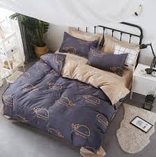 cartoon whale cotton bedding set quilt cover duvet cover single queen king size