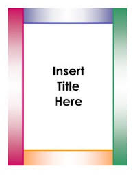 Cover Page Template Word Project Front Page Design In Word Under Fontanacountryinn Com