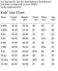 Kids Size Chart Size Chart For Kids Dress Sewing Patterns