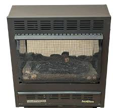 buck model vent free wall mounted heater natural gas propane fireplace and mantel 24 in logs