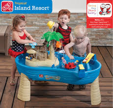 step 2 tropical island resort water table with umbrella wallseat co 0