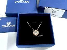 swarovski angelic pendant white rose gold plated crystal authentic mib 5367855
