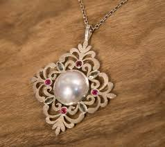 jane liddon tourmaline mabe pearl pendant fine art