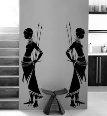 african decor furniture. housewares tribal two african woman wall decal vinyl stickers home decor living room morden design furniture