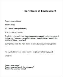Employment Certificate Request Sample Copy Employment Certificate