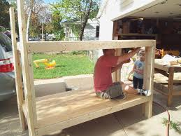 A Brad And Mina During Build Of Bunk Bed