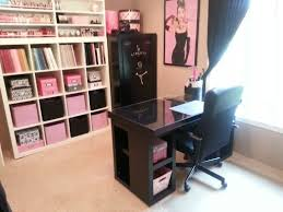 office craft room ideas. Pink, Black And White Craft Room| Crafting Such Office Room Ideas