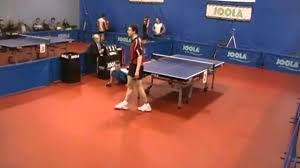 ridiculous round the net table tennis ping pong shot