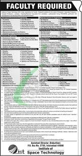 ist full form ist jobs 2018 institute of space technology application form
