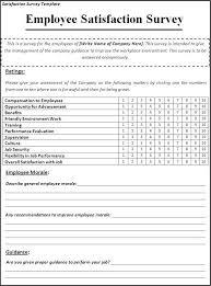 Satisfaction Survey Report Satisfaction Survey Template Employee Satisfaction Survey
