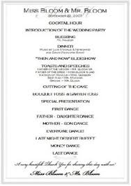 sample wedding ceremony program sample wedding reception program ceremony pinterest