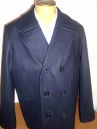 ralph lauren denim supply navy wool blend double ted peacoat nwt l 298