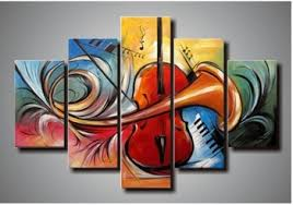 Get Quotations  100% hand painted abstract 5 piece canvas art wall art  canvas modern sets home decoration