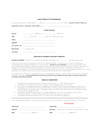 Production Contract Agreement Video Production Contract 24 Free Templates In Pdf Word Excel 1