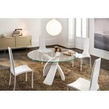 Round Table Tracy Contemporary Modern And Scandinavian Dining