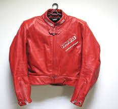harro biker motorcycle woman real leather jacket red color european 40