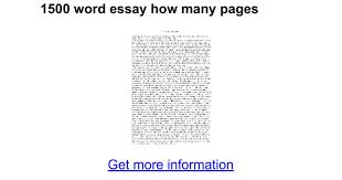 word essay how many pages google docs