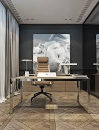 office wall desk. An Ultra-modern Home Office With A Black Wall And Glass One, Desk