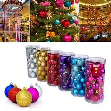 24pcs Christmas Tree Xmas Balls Decorations Baubles Party Wedding Ornament  Home Decor