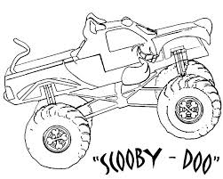 Small Picture Monster Jam Scooby Doo Monster Truck Coloring Pages Color Luna