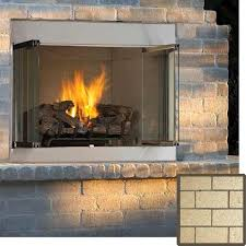 36 superior vre 3000 series outdoor vent free propane fireplace with white stacked