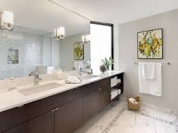 Ideas for Picture Gallery : Modern Bathroom With Wall Mirror Picture Gallery