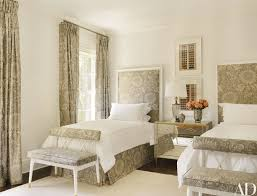 a brunschwig fils print dresses up a guest room the bedirrored chest are kasler