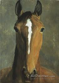 jacques lau agasse paintings for head of a bay horse