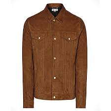 men s brown suede leather jacket