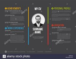 Vector Minimalist Cv Resume Template Minimalistic Colorful