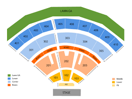 Molson Amphitheatre Detailed Seating Chart Inglewood Tickets Venues
