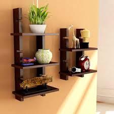 ... Brown Wooden Ladder Wall Shelves/ Wall Shelf/ Display Rack Shelf ...