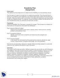 Feasibility Plan Assignment Entrepreneurship Lecture Slides