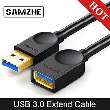 <b>SAMZHE</b> Estender Cabo <b>USB 3.0</b> Cabo de Extensão Plana AM/AF ...