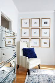 home office dark blue gallery wall. 9 Square Gallery Wall Grid In Our Georgetown Frame | Via @margoandme Home Office Dark Blue Y